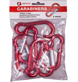 Carabiner Hooks (6 Pack)