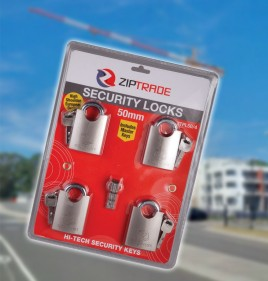 50mm ZIPTRADE Security Padlock Set