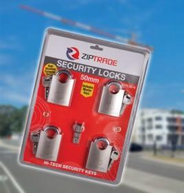 50mm ZIPTRADE Security Padlock Set