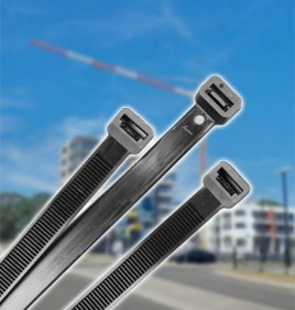 ANWAL 370mm x 7.6mm Black Cable Ties (100Pk)
